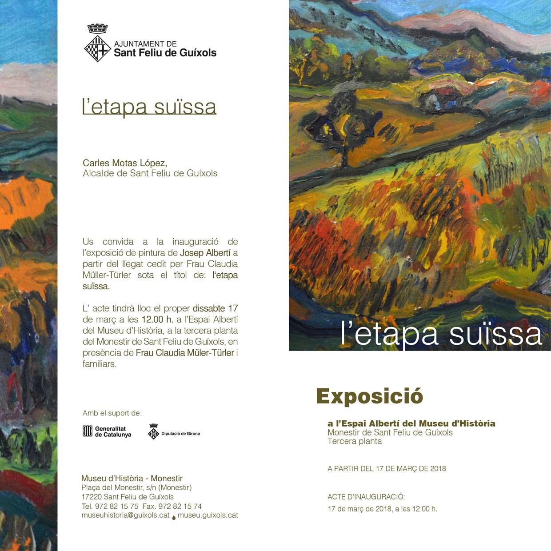 Invitació exposició Albertí: l'Etapa Suïssa